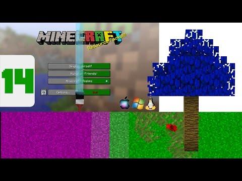 Minecraft - Custom Grass & Leaf Colors! (Resource Pack Tutorial)