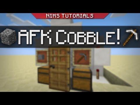 Minecraft: Tutorial | AFK Cobblestone Generator (+SKYBLOCK)