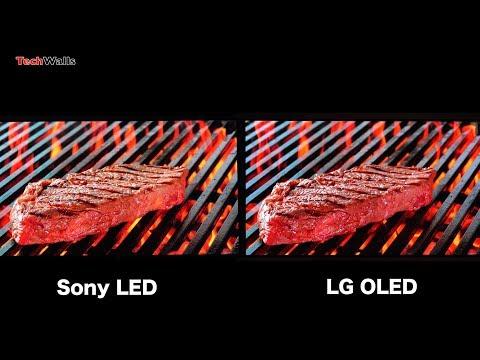 Sony LED TV vs LG OLED 4K HDR TV - Image Quality (Standard Picture Setting)