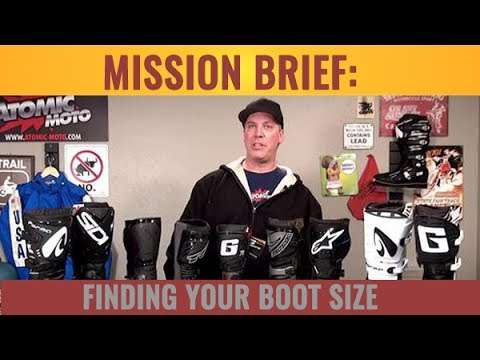 Finding your Motorcycle Boot Size - Atomic-Moto