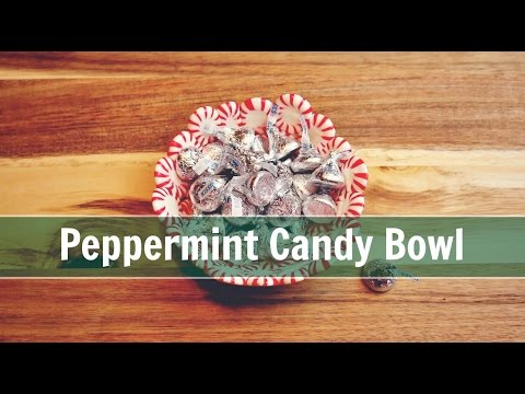 DIY Peppermint Candy Bowl   Food Craft   Jenny On The Spot