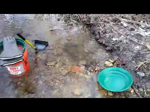 Ohio Gold Prospecting (1st prospecting trip of the year) Jan. 2016