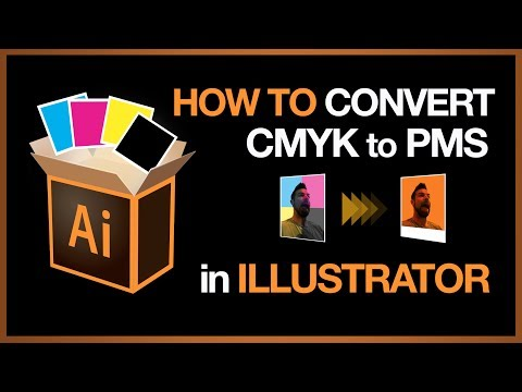 How To Convert CMYK to PMS Colors / Adobe Illustrator CC 2017