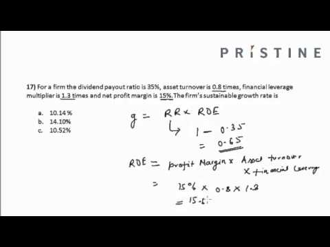 CFA Tutorial: Financial Statement Analysis (Calculating Firm's Sustainable Growth Rate)