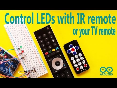 Arduino Tutorial - Control your LEDs with TV or IR Remote