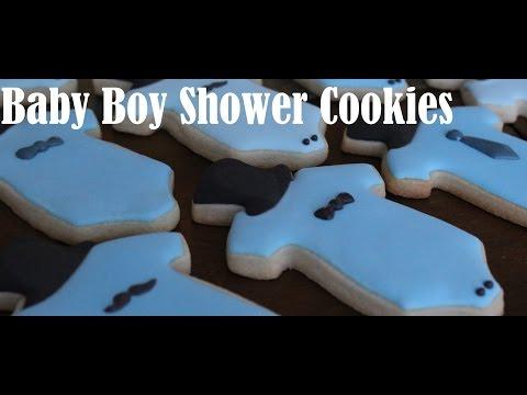 Little Man Onesie: Baby Boy Shower Cookies: Cookie Creations by Maggie