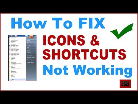 Fix icons and shortcuts not working in start menu on windows pc [Fix shortcuts not working]