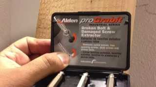 How To Remove A Stripped Screw Alden Pro Grabit Video Review