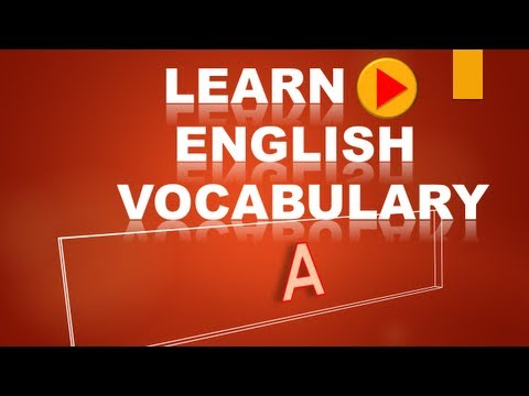 Learn English Vocabulary #5  A