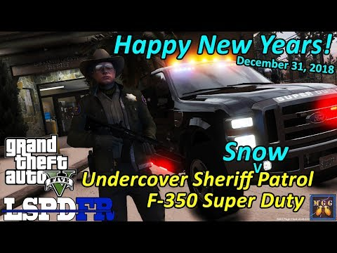 Happy New Years Eve! Paleto Bay Undercover Ford F-350 Sheriff Patrol | GTA 5 LSPDFR Episode 315