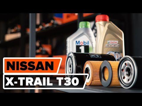 How to replace engine oil and oil filter NISSAN X-TRAIL T30 TUTORIAL | AUTODOC