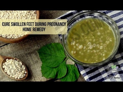 Barley to cure swollen feet during pregnancy - Home remedy