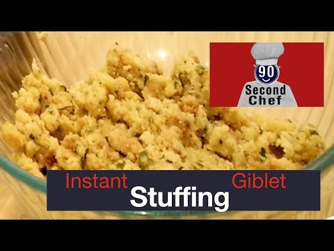 90 Second Chef Instant Stuffing From Giblets