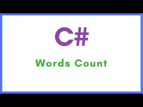 C# - How To Count Words In A String Using C# [ with source code ]