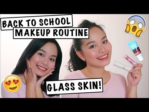 TIPID SCHOOL MAKEUP 2018 (GLASS SKIN + FRESH!) | Philippines