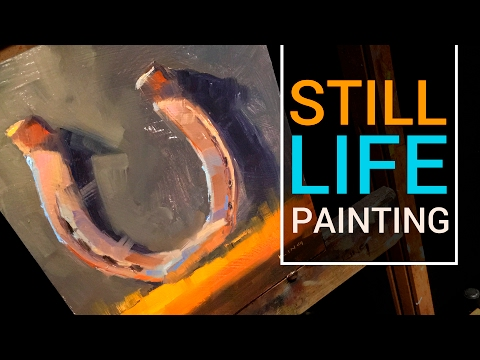 Painting Rust | Sill Life Painting of a Horseshoe in Oil Paint