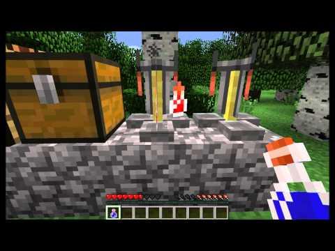 Minecraft Tutoriels: Le guide 1.4: E5: Potion d'invisibilité et vision de nuit.