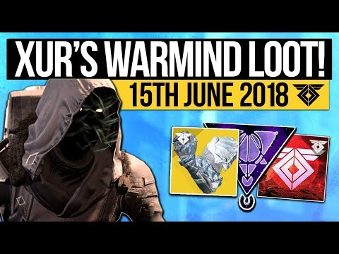 Destiny 2 | XUR LOCATION & DLC EXOTICS! - Exotic Weapon, Armor Inventory & More (15th June)