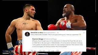 DAVE ALLEN CHALLENGES SHANNON BRIGGS TO A FIGHT IN NEWCASTLE 13th OCTOBER!!