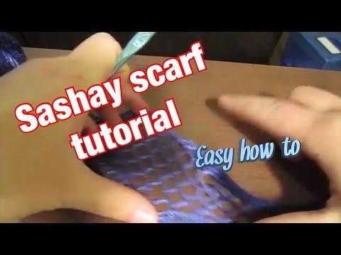 Sashay Scarf Tutorial Easy Sashay Scarf Instructions