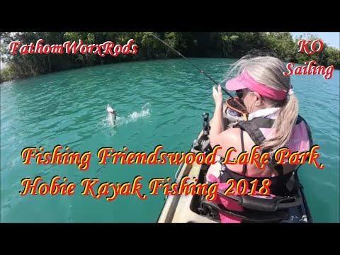 Fishing Friendswood Lake Park: Hobie Kayak Fishing 2018