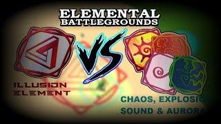 Roblox Elemental Battlegrounds Spectrum Explosion Element Vs Phoenix Void Lava Fire Elements Roblox Elemental Battleground