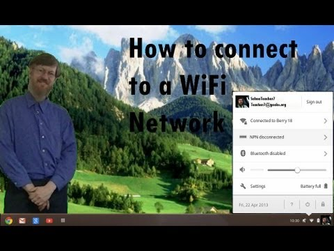 How to connect to your Chromebook computer to a WiFi network