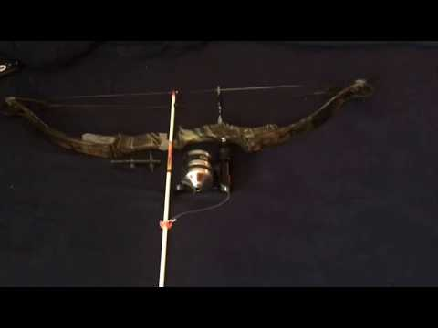 Bow fishing set up and how to mount and attach reel and arrow