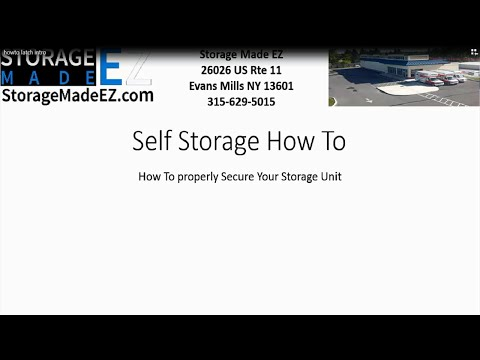 How To Lock Your Self Storage Unit