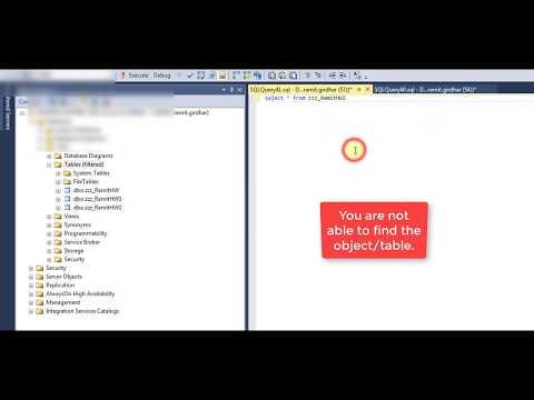Solved - Invalid object name SQL management studio