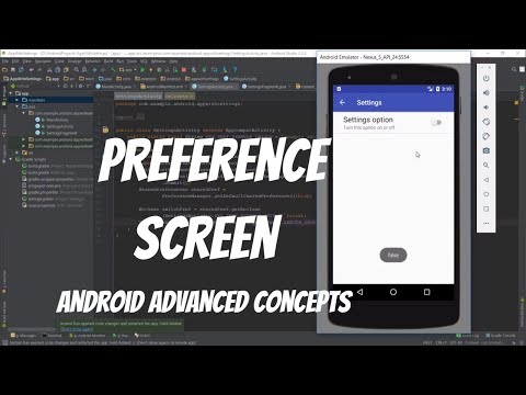 Android Adding Settings to an App (PreferenceScreen)