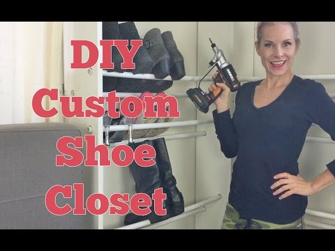 DIY Custom Shoe Closet