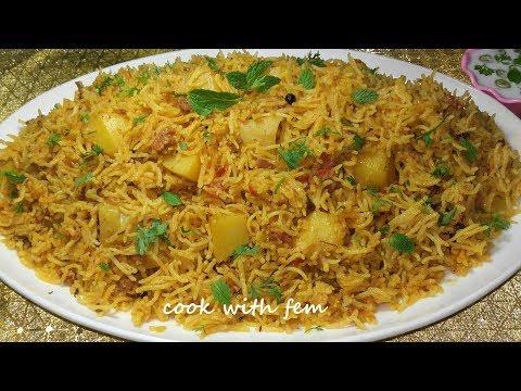 Hyderabadi Kheema Aloo Ki Tahari | Kheema Aloo Pulao