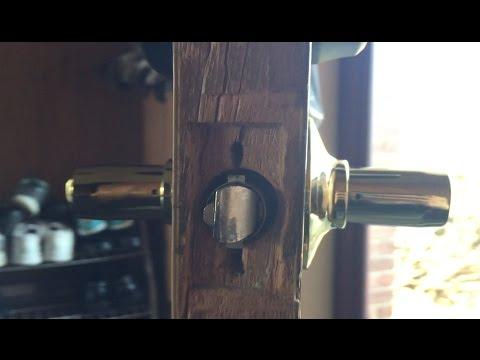 Door Knob & Deadbolt Stripped Screw in Wood Door Repair