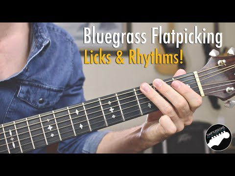 Bluegrass Flatpicking Guitar Lesson | Licks in Key of G, C, and D