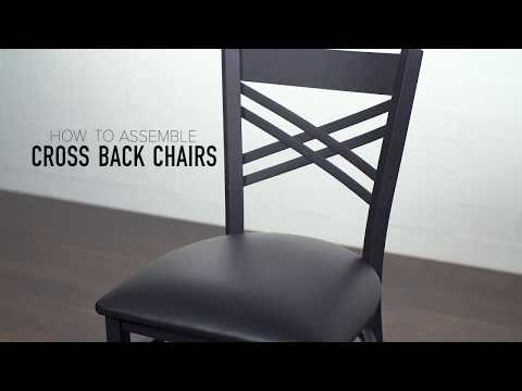 Lancaster Table & Seating: Cross Back Chair Assembly