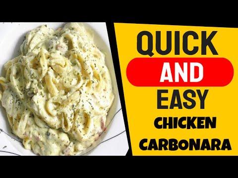 Quick and Easy Chicken Carbonara