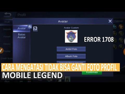 cara mengatasi tidak bisa ganti foto profil di mobile legend