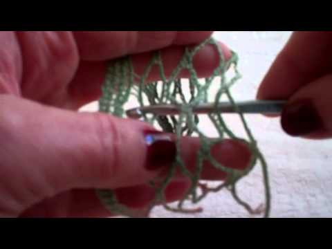 Crochet Mesh Yarn - How to Begin & End