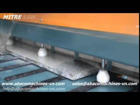 MITRE SAW ABACO cutting stone slab granite, sawing machine, material equipment