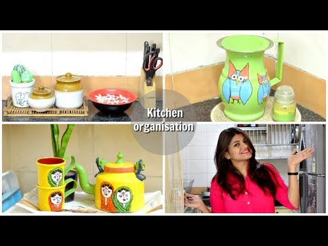 Indian Kitchen Organisation Ideas | Countertop Organisation | Scarlet Strokes