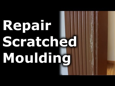 How to repair scratches in your moulding / walls