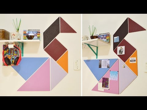 Tangram Cork Board Wall Art