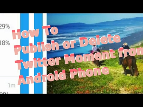 How to Publish or Delete Twitter Moment from Android
