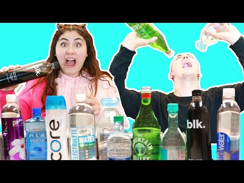 MIXING EVERY SINGLE WATER BOTTLES THERE IS   WATER TASTE TEST