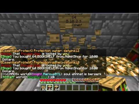 Minecraft Plugins: Chest Shop: AdminShop, Unlimited Goods Tutorial