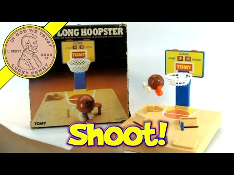 Vintage Tomy Hop-A-Long Hoopster 1981 Wind-Up Hopping Basketball Toy