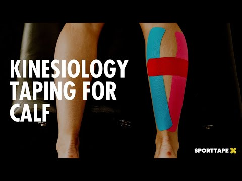 Easy CALF PAIN Kinesiology Taping Application