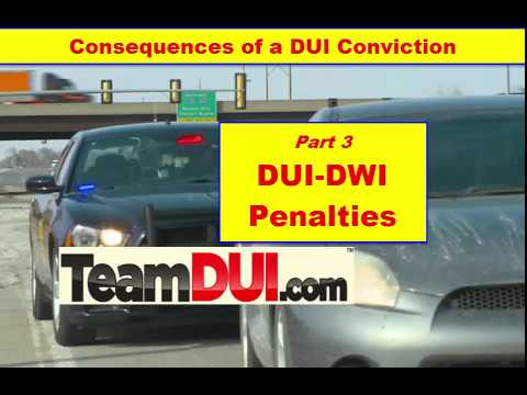 Penalties for DUI | DUI Penalties | Consequences of a DUI | DWI penalties  - Part 3