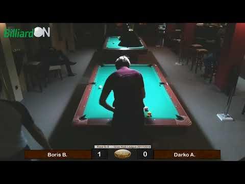 Gran Klub - Billiard Table 6 - Boris vs Darko - 9 ball